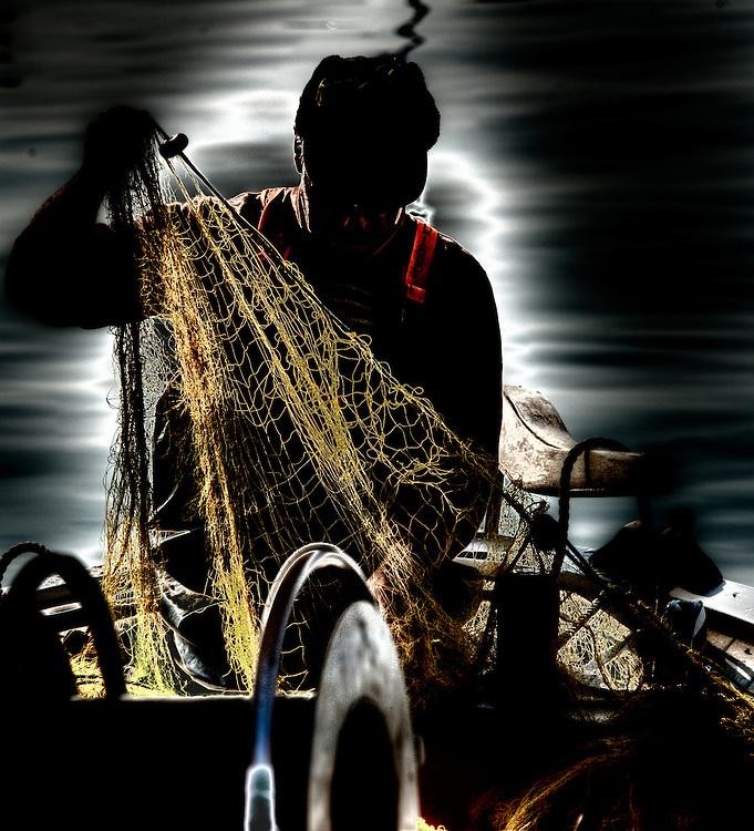 Fishermen in Volos harbour - 16