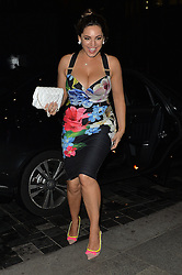 Model Kelly Brook and boyfriend Jeremy Parisi enjoy a night out in Mayfair, UK. 29/06/2016<br />