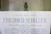 Schiller-Gruft, Friedhof der Jakobskirche, Weimar, Thüringen, Deutschland | Schiller's tomb, grave yard of Jacobs church, Weimar, Thuringia, Germany