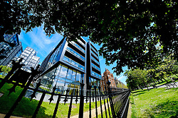 The Quartermile Development overlooking the Meadows in Edinburgh.  Quartermile is the marketing name given to the mixed use redevelopment of the former Royal Infirmary of Edinburgh site, in Lauriston, Edinburgh. The project is a joint venture between Gladedale Group and the Bank of Scotland.<br /> <br /> (c) Andrew Wilson | Edinburgh Elite media