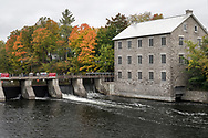 Watson's Mill is a working 1860's era grist and flour mill located in Manotick (suburb of Ottawa, Ontario), along the Rideau River. Photographed from A. Y. Jackson Park.