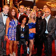 NLD/Amsterdam/20111004 - Premiere Body Language, Sigourney Korper, Boris Schreurs, Jeffrey Elmont, Luciano Hiwat, Ingrid Jansen, Roy julen, Ruben Solognier, Johan Nijenhuis