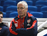 Arsenal Development Squad Manager Steve Gatting during the Barclays U21 Premier League match between Brighton U21 and Arsenal U21 at the American Express Community Stadium, Brighton and Hove, England on 30 November 2015. Photo by Bennett Dean.