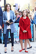 Princess Sofia, Queen Letizia of Spain attended the Easter Mass at the Cathedral of Palma de Mallorca on April 16, 2017 in Palma de Mallorca, Spain.