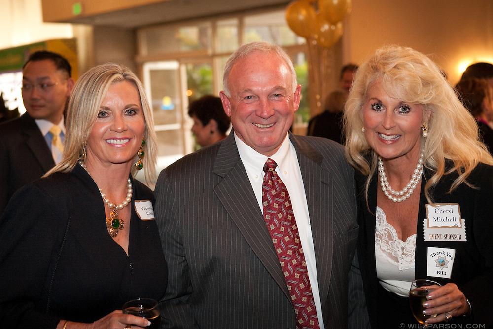 Mayor Sanders with Veronica Engel and Cheryl Mitchell