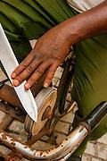 Cuba, Havana, knife sharpening