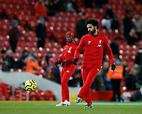 Football - 2019 / 2020 Premier League - Liverpool vs. Everton<br /> <br /> Mohamed Salah of Liverpool starts on the bench for tonight's game, at Anfield.<br /> <br /> COLORSPORT/ALAN MARTIN
