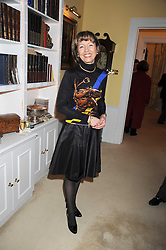 LADY MEYER at a birthday party for Lady Meyer hosted by Richard & Basia Briggs at their home 25 Sloane Gardens, London SW1 on 28th January 2009.