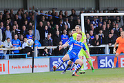 Callum Camps during the Sky Bet League 1 match between Rochdale and Southend United at Spotland, Rochdale, England on 25 March 2016. Photo by Daniel Youngs.
