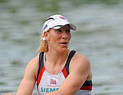 Lucerne, Switzerland. GBR W1X, Debbie FLOOD coming in third, to go through to Sundays final of the Womens single  sculls Final.  FISA World Cup. Lake Rotsee, Lucerne.  16:21:23   Saturday  10/07/2010.  [Mandatory Credit Peter Spurrier/ Intersport Images]