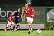 Bristol City's Jack Batten on the ball during the The County Cup match between Forest Green Rovers and Bristol City at the New Lawn, Forest Green, United Kingdom on 23 November 2015. Photo by Shane Healey.
