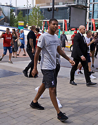 LONDON, ENGLAND - Sunday, August 4, 2019: Liverpool's Rhian Brewster takes a walk on Olympic Way (formerly Wembley Way) before the FA Community Shield match between Manchester City FC and Liverpool FC at Wembley Stadium. (Pic by David Rawcliffe/Propaganda)