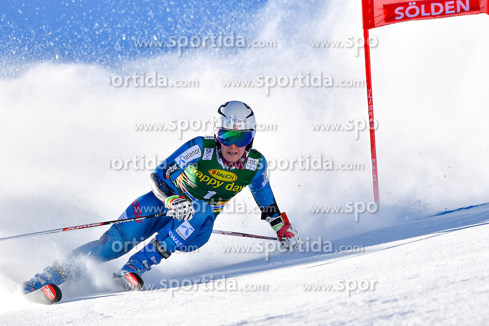 22.10.2016, Rettenbachferner, Soelden, AUT, FIS Weltcup Ski Alpin, Soelden, Riesenslalom, Damen, 1. Durchgang, im Bild Nina Loeseth (NOR) // Nina Loeseth of Norway in action during 1st run of ladies Giant Slalom of the FIS Ski Alpine Worldcup opening at the Rettenbachferner in Soelden, Austria on 2016/10/22. EXPA Pictures &copy; 2016, PhotoCredit: EXPA/ Nisse Schmid<br /> <br /> *****ATTENTION - OUT of SWE*****