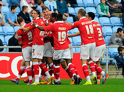 Bristol City's Marlon Pack celebrates his goal with team mates   - Photo mandatory by-line: Joe Meredith/JMP - Mobile: 07966 386802 - 18/10/2014 - SPORT - Football - Coventry - Ricoh Arena - Bristol City v Coventry City - Sky Bet League One
