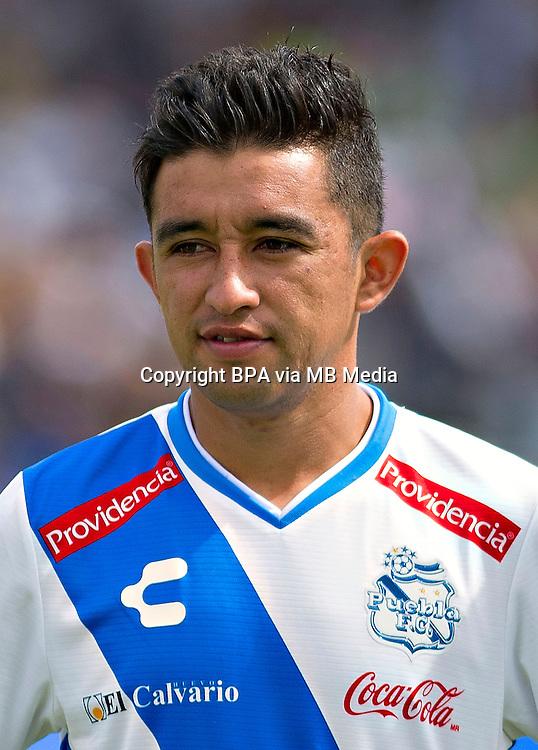Mexico League - BBVA Bancomer MX 2015-2016 - <br /> Camoteros - Puebla F&uacute;tbol Club / Mexico - <br /> Christian de Jesus Bermuez Gutierrez