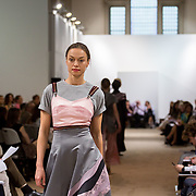 13.05.2016.           <br /> A model showcases designs by Aoife Eustace Doyle titled 'Desire' at the much anticipated Limerick School of Art & Design, LIT, (LSAD) Graduate Fashion Show on Thursday 12th May 2016. The show took place at the LSAD Gallery where 27 graduates from the largest fashion degree programme in Ireland showcased their creations. Ranked among the world's top 50 fashion colleges, Limerick School of Art and Design is continuing to mold future Irish designers.. Picture: Alan Place/Fusionshooters