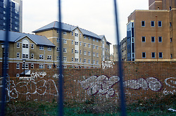 New buildings and graffiti; Croydon UK