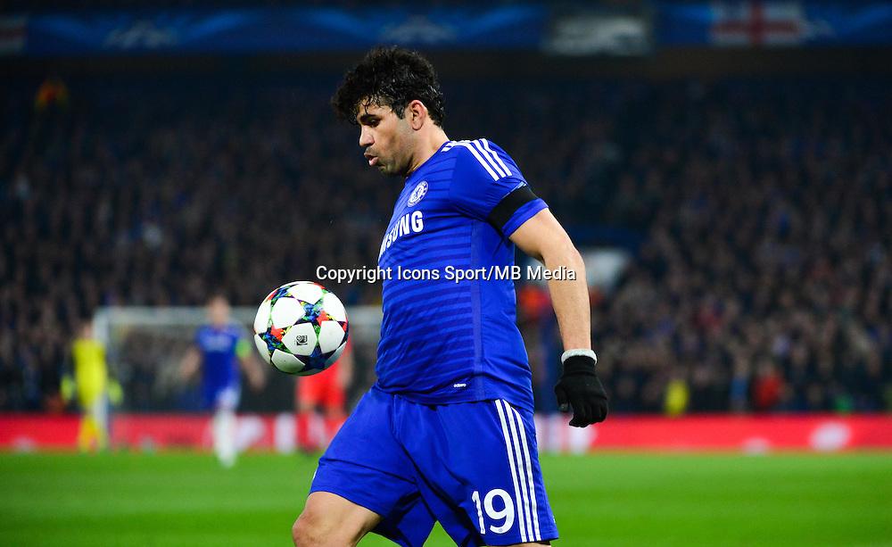Diego COSTA - 11.03.2015 - Chelsea / Paris Saint Germain - 1/8Finale retour Champions League<br /> Photo : Dave Winter / Icon Sport