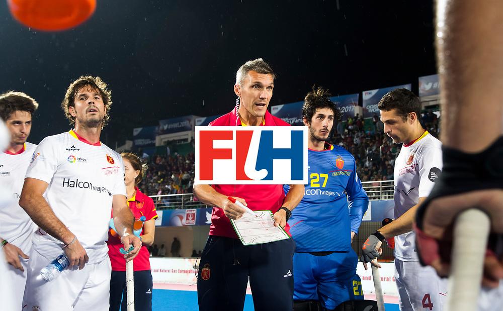 BHUBANESWAR - coach Frederic Soyez (Esp).  Hockey World League finals , wedstrijd om de 5e plaats. Belgie-Spanje.  COPYRIGHT KOEN SUYK