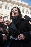 Politicians in Montecitorio Square
