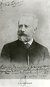 'Pyotor Ilyich Tchaikovsky (1840-1893) in 1893, Russian composer. Photograph.'