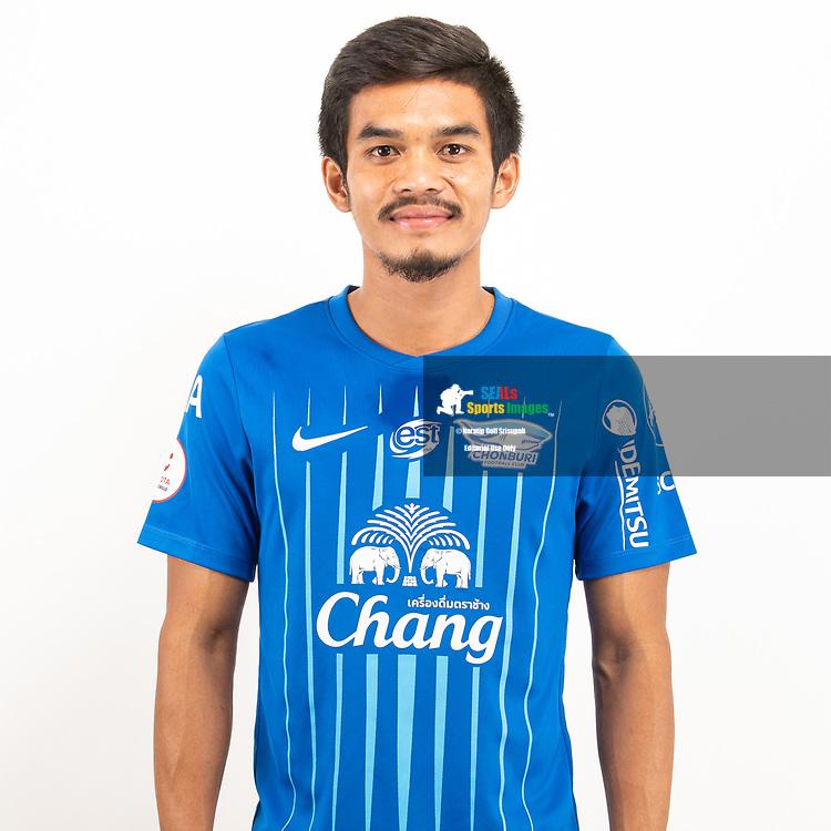 THAILAND - JUNE 11: Ekkachai Ritthiphan #14 of Chon Buri FC on June 11, 2019.<br /> .<br /> .<br /> .<br /> (Photo by: Naratip Golf Srisupab/SEALs Sports Images/MB Media Solutions)