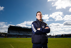 Bristol Rovers Manager Darrell Clarke poses during a media session before Sundays Vanamara Conference Play Off Final match against Grimsby Town at Wembley Stadium for promotion to the Football League 2 - Photo mandatory by-line: Rogan Thomson/JMP - 07966 386802 - 12/05/2015 - SPORT - FOOTBALL - Bristol, England - Memorial Stadium - Bristol Rovers Play Off Final Previews - Vanarama Conference Premier.