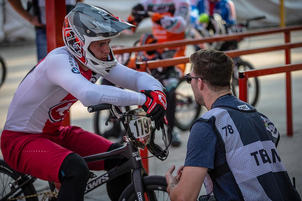 #179 (MARQUART Simon M.) SUI at Round 10 of the 2019 UCI BMX Supercross World Cup in Santiago del Estero, Argentina
