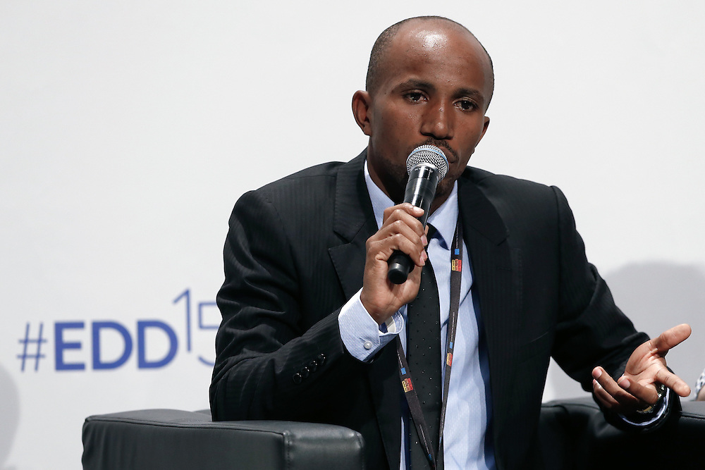 04 June 2015 - Belgium - Brussels - European Development Days - EDD - Growth , jobs and partnership with business - How to make a difference together in contributing to a sustainable and inclusive growth agenda - Muhammed Kisirisa , Future Leader © European Union