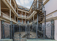 old town Tbilisi design building house facede stylish  steel staircase Georgia capital city eastern Europe