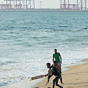 Cricket on the beach, Colombo, Sri Lanka.