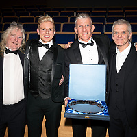 St Johnstone FC Hall of Fame Dinner, Perth Concert Hall….23.03.19<br />Jim Weir pictured with his son Sam, brother (right) and uncle<br />Copyright Perthshire Picture Agency<br />Tel: 01738 623350  Mobile: 07990 594431