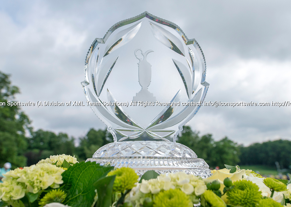June 05 2016:  Dublin, OH, USA: The Memorial Trophy on Display during the Final Round of the Memorial Tournament presented by Nationwide at the Muirfield Village Golf Club. (Photo by Jason Mowry/Icon Sportwire)
