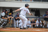 Ole Miss' Sikes Orvis hits an RBI single in the bottom of the first inning vs. Arkansas-Pine Bluff at Oxford-University Stadium in Oxford, Miss. on Wednesday, April 2, 2014.