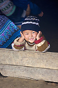 Hilltribe villages around Sapa. Black Hmong boy.