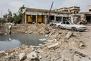 A destroyed street is seen in West Mosul, Iraq.<br />