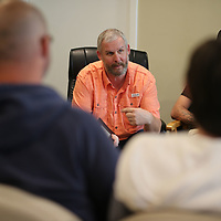 God's House of Hope board member Ethan Nanney leads one of the classes as men and women for through recovery at God's House of Hope in Nettleton.