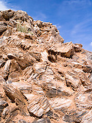 Close-up image of selenite crystals (gypsum, calcium sulfate) at Glass Mountain, Hartnett Draw, Capitol Reef National Park, Utah.