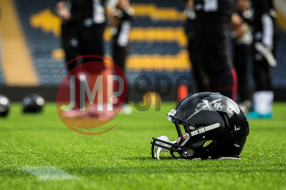 Kent Exiles warm up - Mandatory by-line: Jason Brown/JMP - 27/08/2016 - AMERICAN FOOTBALL - Sixways Stadium - Worcester, England - Kent Exiles v East Kilbride Pirates - BAFA Britbowl Finals Day
