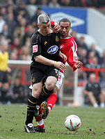 Photo: Paul Thomas. Nottingham Forest v Wigan Athletic, Forest Ground, Nottingham. Coca Cola Championship. <br /> 19/03/2005. Graham Kavanagh and James Perch.