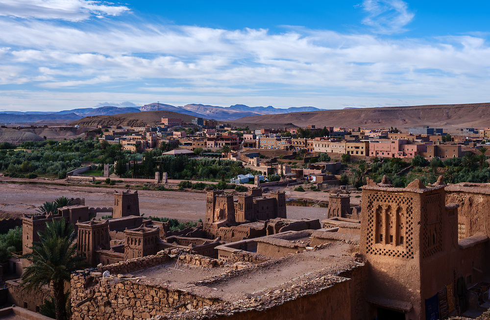 AIT BEN HADDOU, MOROCCO - CIRCA APRIL 2017: View of Ait Ben Haddou, from the Ksar.