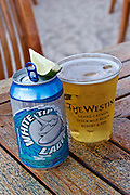 Grand Cayman. Seven Mile Beach. The Westin Grand Cayman Seven Mile Beach Resort and Spa. White Tip Lager beer.