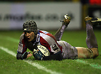 Photo: Rich Eaton.<br /> <br /> Sale Sharks v Bristol Rugby. Guinness Premiership. 01/01/2007. Dan Ward-Smith goes over for Bristol in the second half to score the only try of the game and stop top  of the league