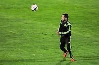 Spanish National Team's  training at Ciudad del Futbol stadium in Las Rozas, Madrid, Spain. In the pic: Jordi Alba. March 25, 2015. (ALTERPHOTOS/Luis Fernandez)
