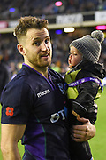 Triple try scorer Tommy Seymour after the 2018 Autumn Test match between Scotland and Fiji at Murrayfield, Edinburgh, Scotland on 10 November 2018.
