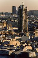 France. Paris. elevated view. paris cityscape  view from Saint Eustache church bell tower