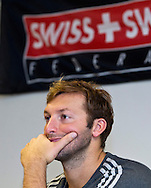 """Swimmer Ian THORPE of Australia is pictured during a press confercene held at the Centro sportivo nazionale della gioventu (""""youth and sports""""-Centre) in Tenero, Switzerland, Wednesday, March 16, 2011. Five-time Olympic gold medallist Ian Thorpe has finalised his coaching set-up ahead of next year's London Olympic Games, announcing today that he will link up with former Australian Institute of Sport Coach and Russian born Gennadi Touretski in Switzerland. (Photo by Patrick B. Kraemer / MAGICPBK)"""