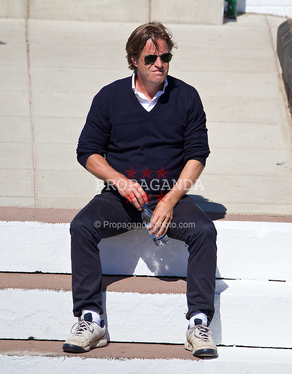 LIVERPOOL, ENGLAND - Friday, June 20, 2014: Tournament Director Anders Borg during Day Two of the Liverpool Hope University International Tennis Tournament at Liverpool Cricket Club. (Pic by David Rawcliffe/Propaganda)