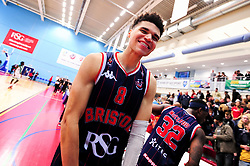Tevin Falzon of Bristol Flyers after the final whistle of the match - Photo mandatory by-line: Ryan Hiscott/JMP - 13/04/2019 - BASKETBALL - SGS Wise Arena - Bristol, England - Bristol Flyers v Manchester Giants - British Basketball League Championship