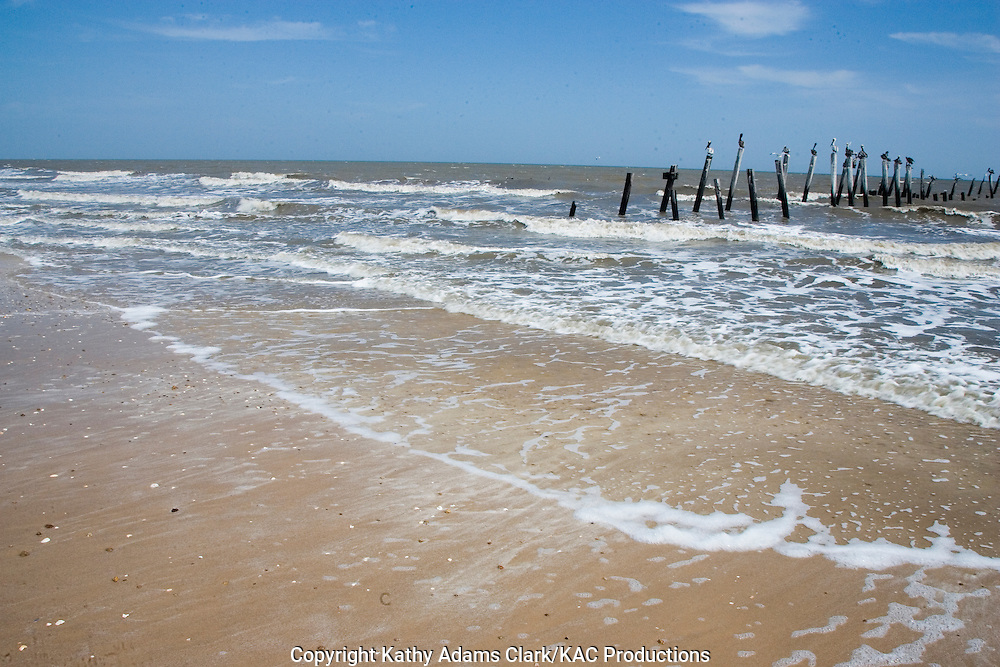 Beach, shoreline, Gulf Coast, waves, Gilcrest Beach, Texas.
